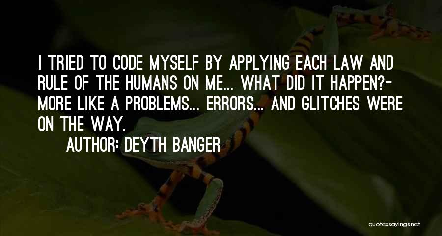 Errors Quotes By Deyth Banger