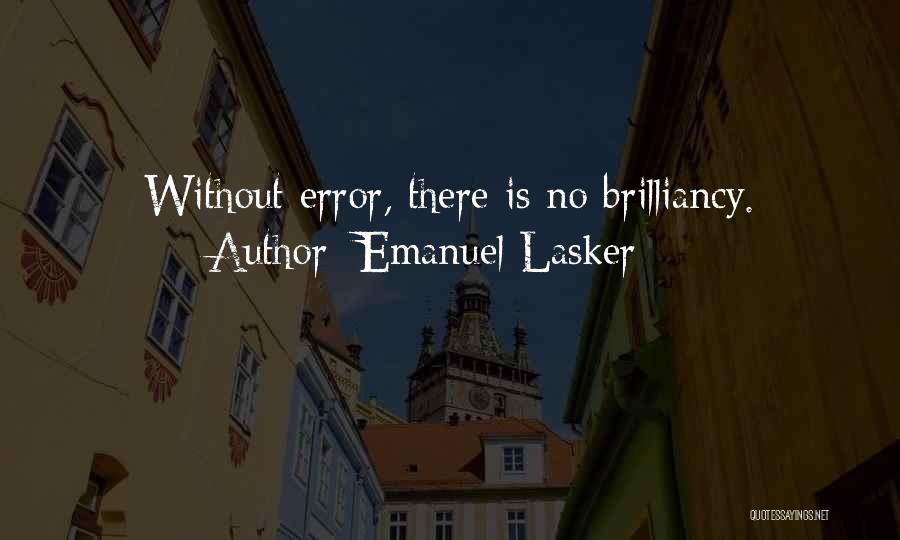 Errors Quotes By Emanuel Lasker