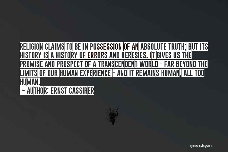 Errors Quotes By Ernst Cassirer