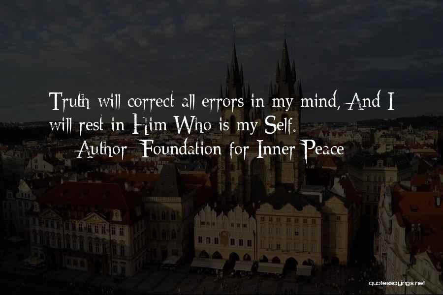 Errors Quotes By Foundation For Inner Peace