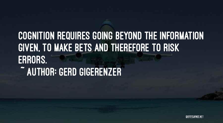 Errors Quotes By Gerd Gigerenzer
