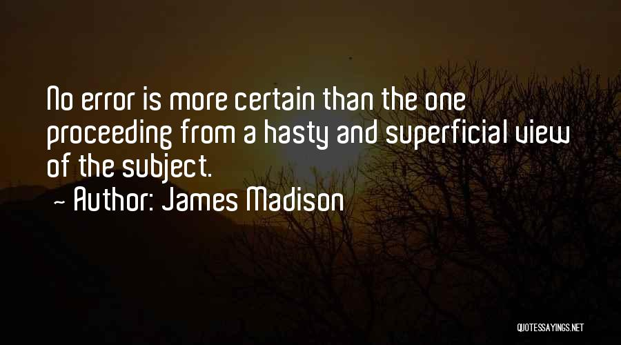 Errors Quotes By James Madison