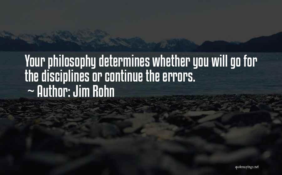 Errors Quotes By Jim Rohn
