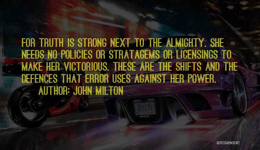 Errors Quotes By John Milton