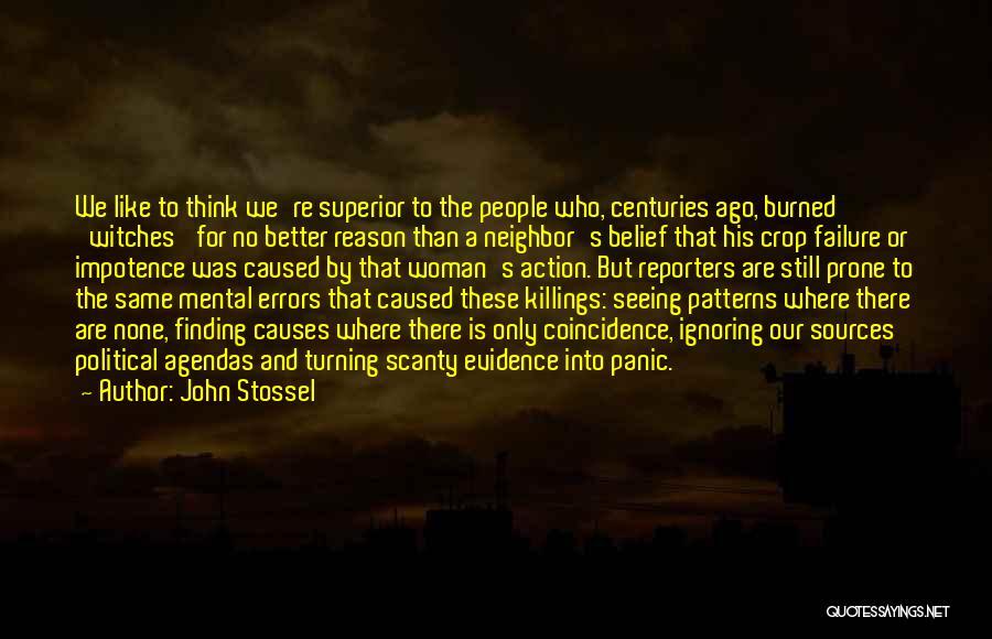 Errors Quotes By John Stossel