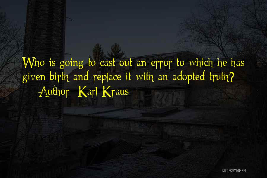 Errors Quotes By Karl Kraus