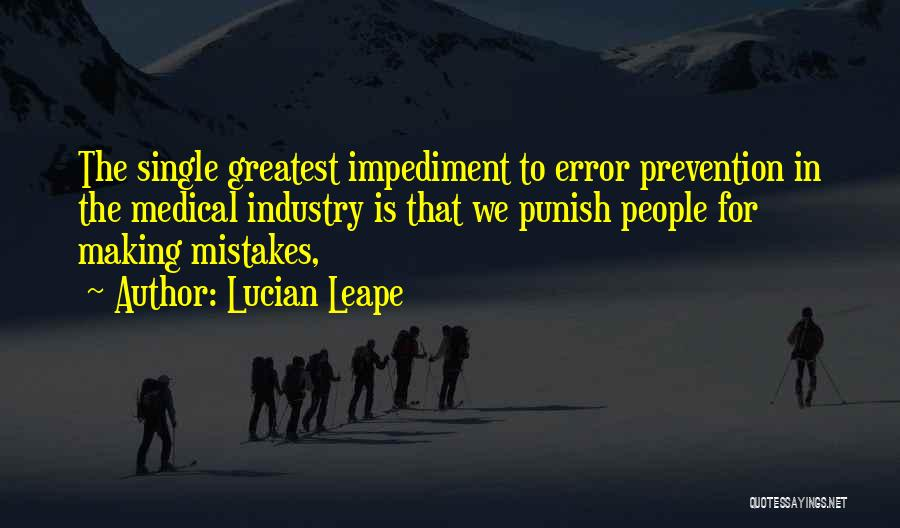 Errors Quotes By Lucian Leape