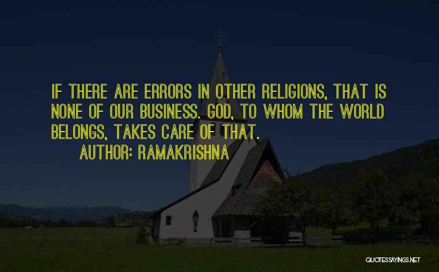 Errors Quotes By Ramakrishna