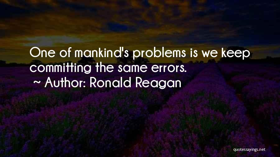 Errors Quotes By Ronald Reagan