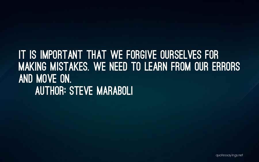 Errors Quotes By Steve Maraboli