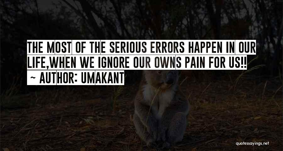 Errors Quotes By Umakant