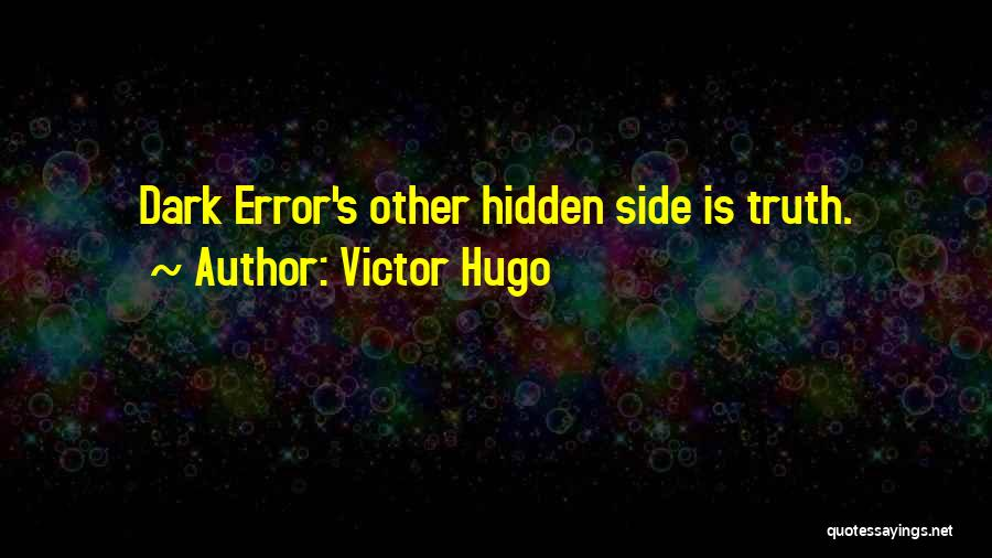 Errors Quotes By Victor Hugo