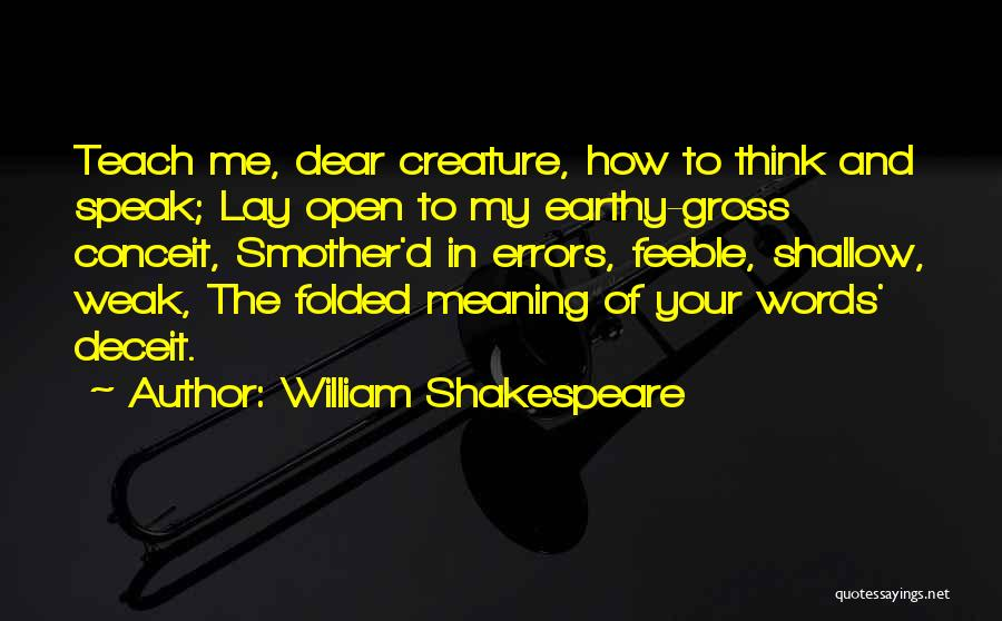 Errors Quotes By William Shakespeare