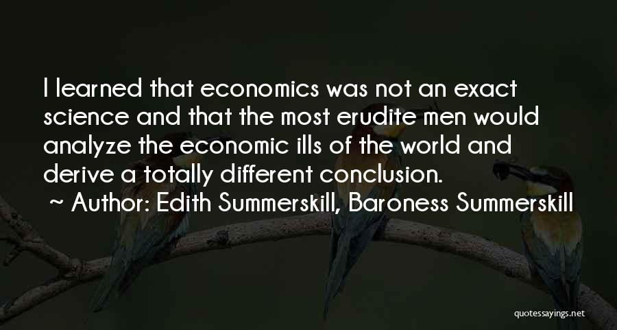 Erudite Quotes By Edith Summerskill, Baroness Summerskill
