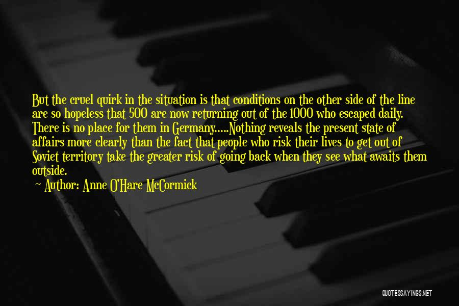 Escaped Quotes By Anne O'Hare McCormick