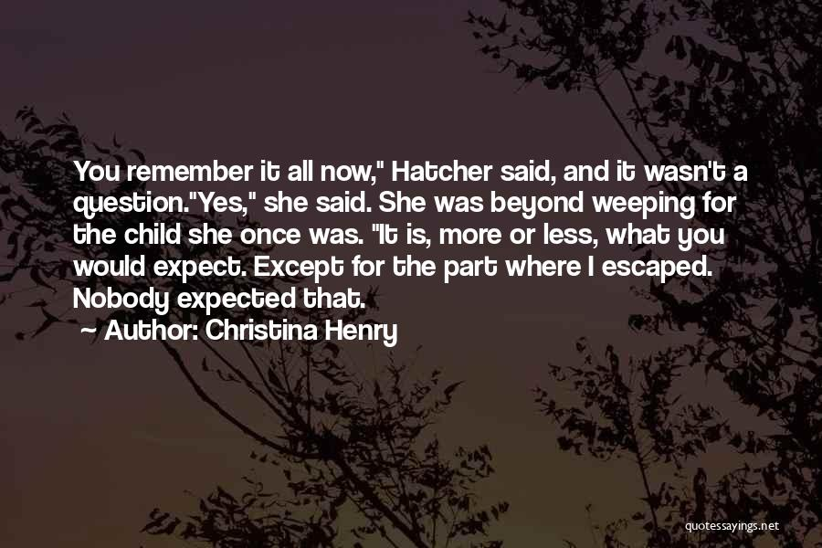 Escaped Quotes By Christina Henry