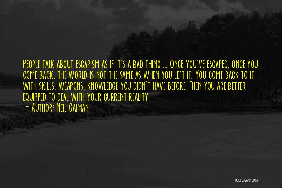 Escaped Quotes By Neil Gaiman