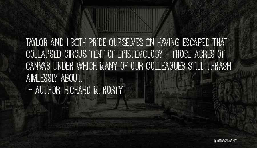 Escaped Quotes By Richard M. Rorty