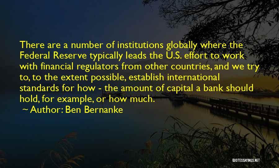 Establish Quotes By Ben Bernanke