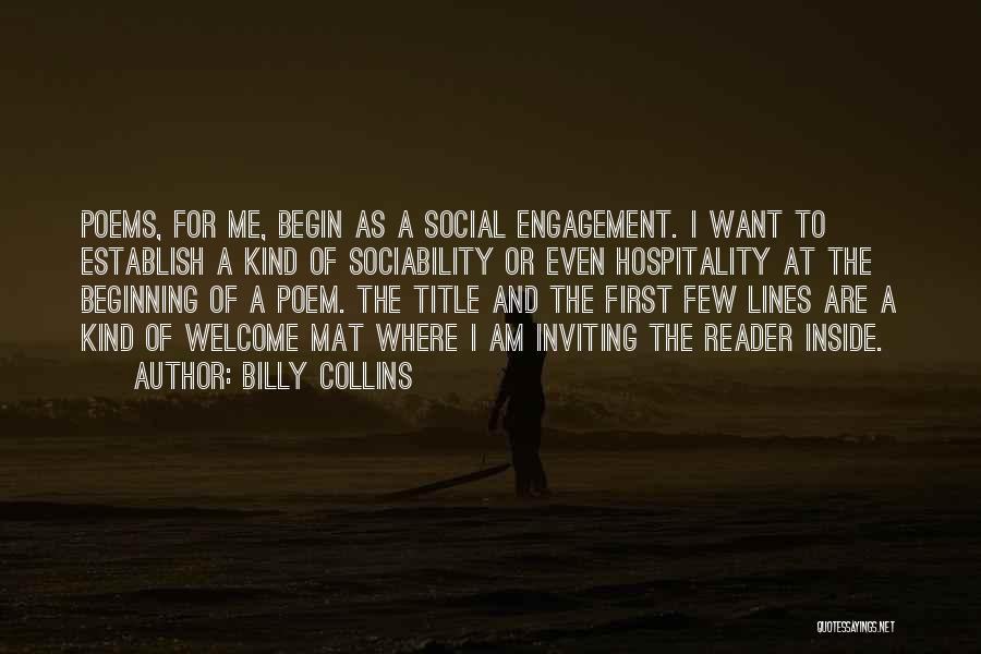 Establish Quotes By Billy Collins