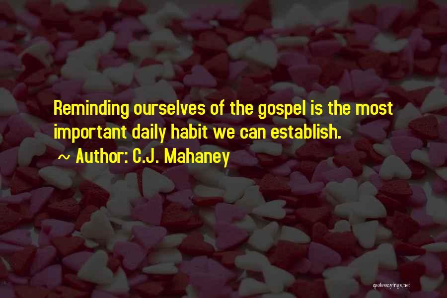 Establish Quotes By C.J. Mahaney