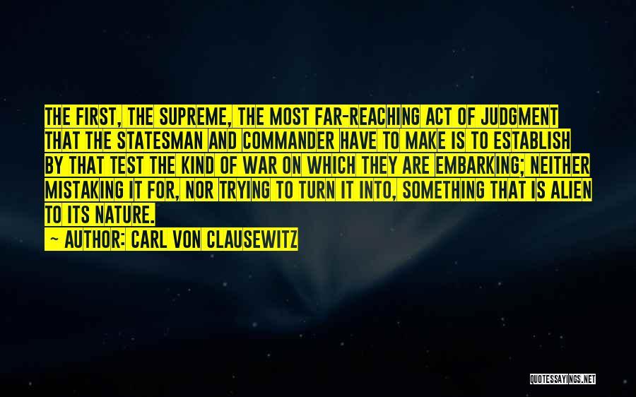 Establish Quotes By Carl Von Clausewitz
