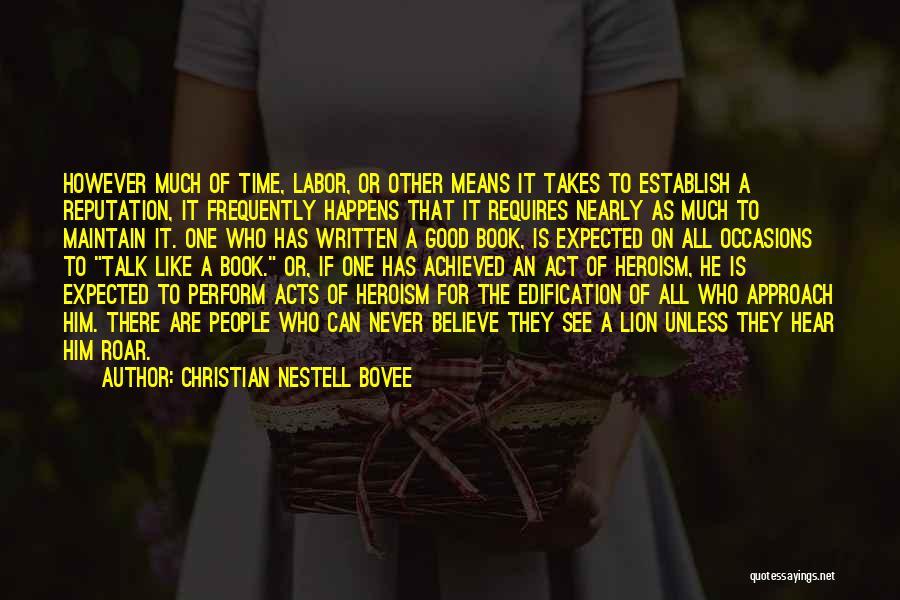 Establish Quotes By Christian Nestell Bovee