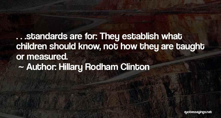 Establish Quotes By Hillary Rodham Clinton