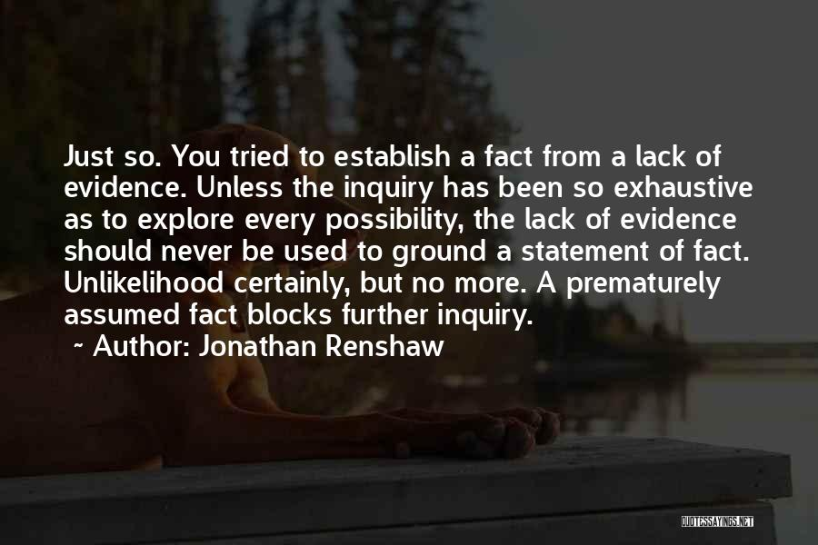 Establish Quotes By Jonathan Renshaw