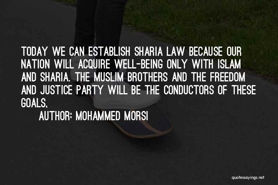 Establish Quotes By Mohammed Morsi