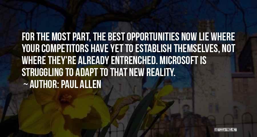Establish Quotes By Paul Allen