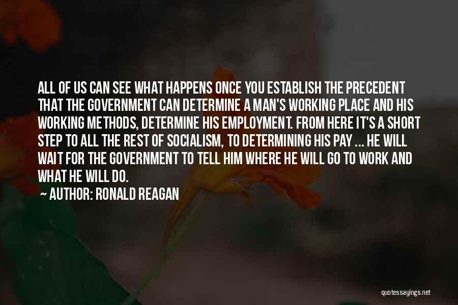 Establish Quotes By Ronald Reagan