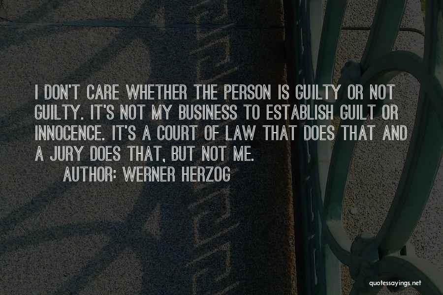 Establish Quotes By Werner Herzog