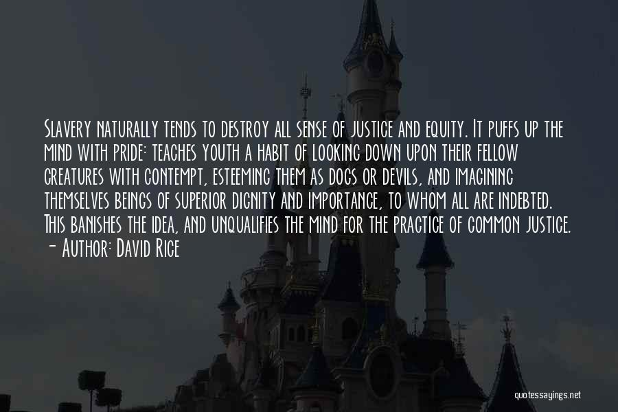 Esteeming Others Quotes By David Rice