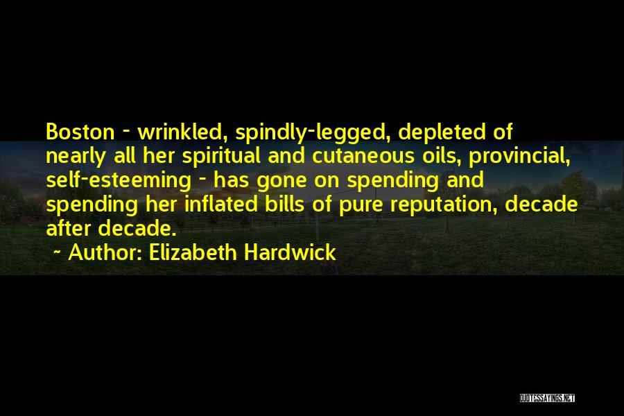 Esteeming Others Quotes By Elizabeth Hardwick
