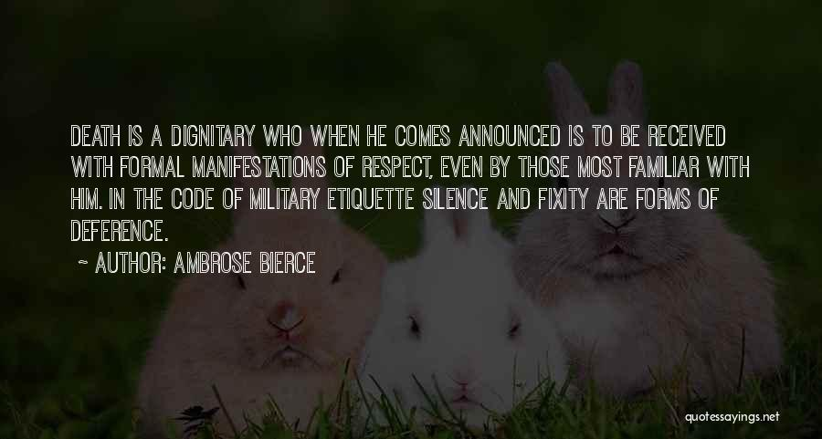 Etiquette Quotes By Ambrose Bierce