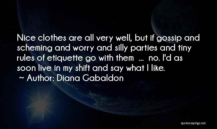 Etiquette Quotes By Diana Gabaldon