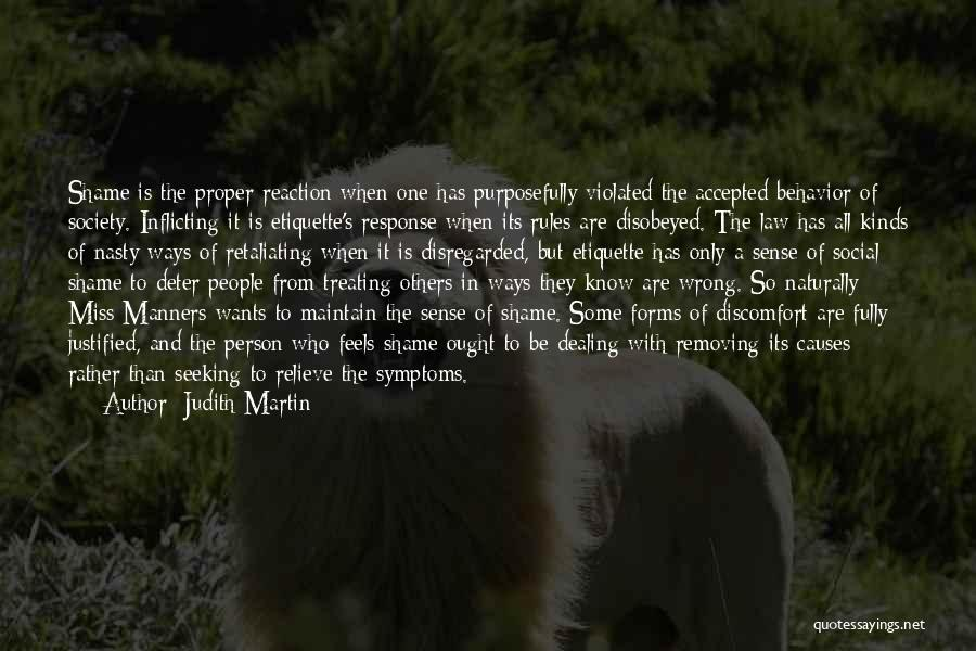 Etiquette Quotes By Judith Martin