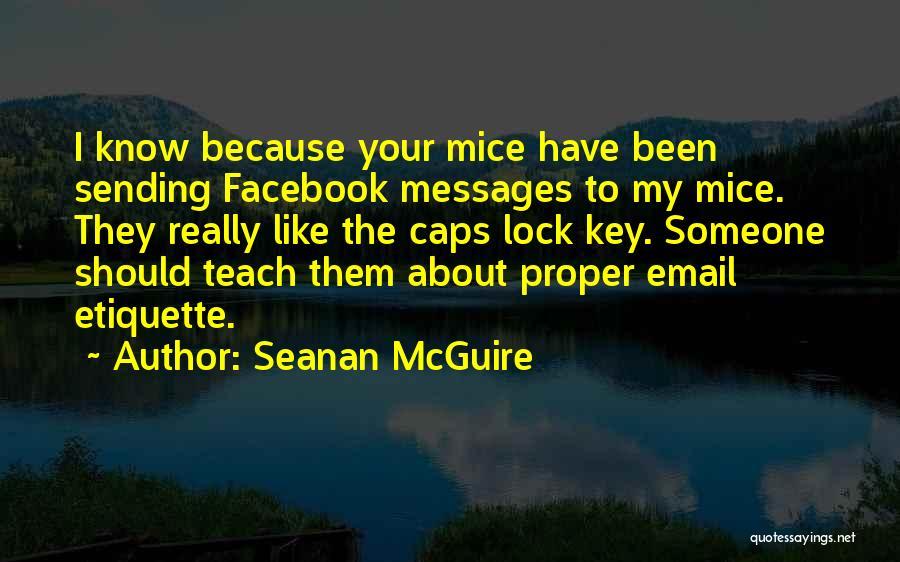 Etiquette Quotes By Seanan McGuire