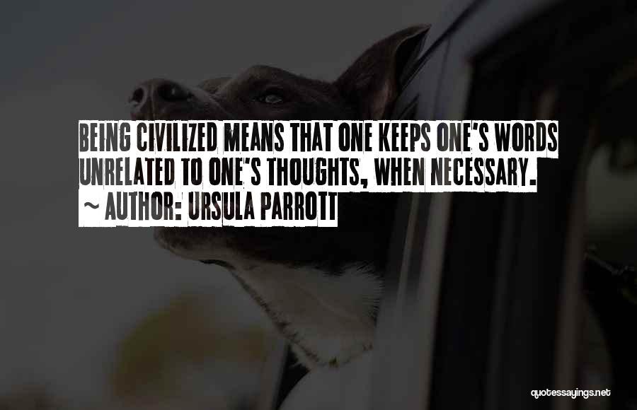 Etiquette Quotes By Ursula Parrott
