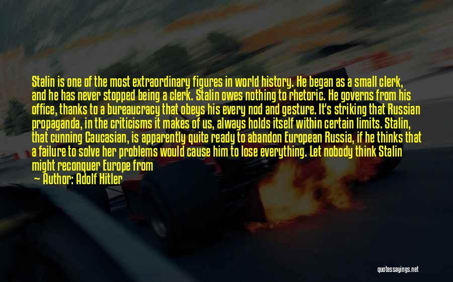 European Quotes By Adolf Hitler