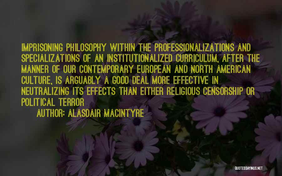 European Quotes By Alasdair MacIntyre