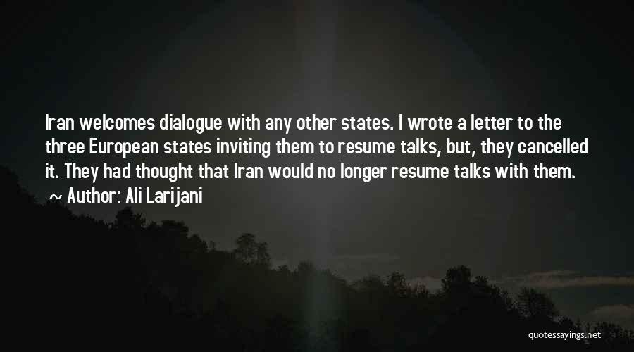 European Quotes By Ali Larijani