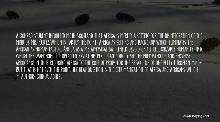 European Quotes By Chinua Achebe