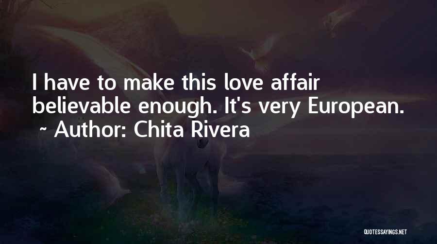 European Quotes By Chita Rivera