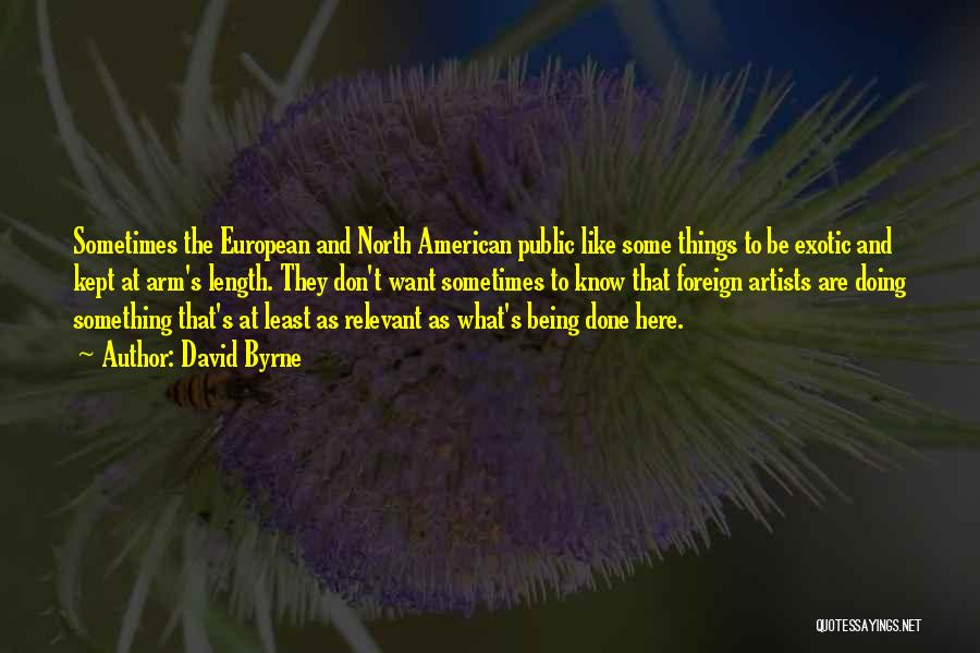 European Quotes By David Byrne