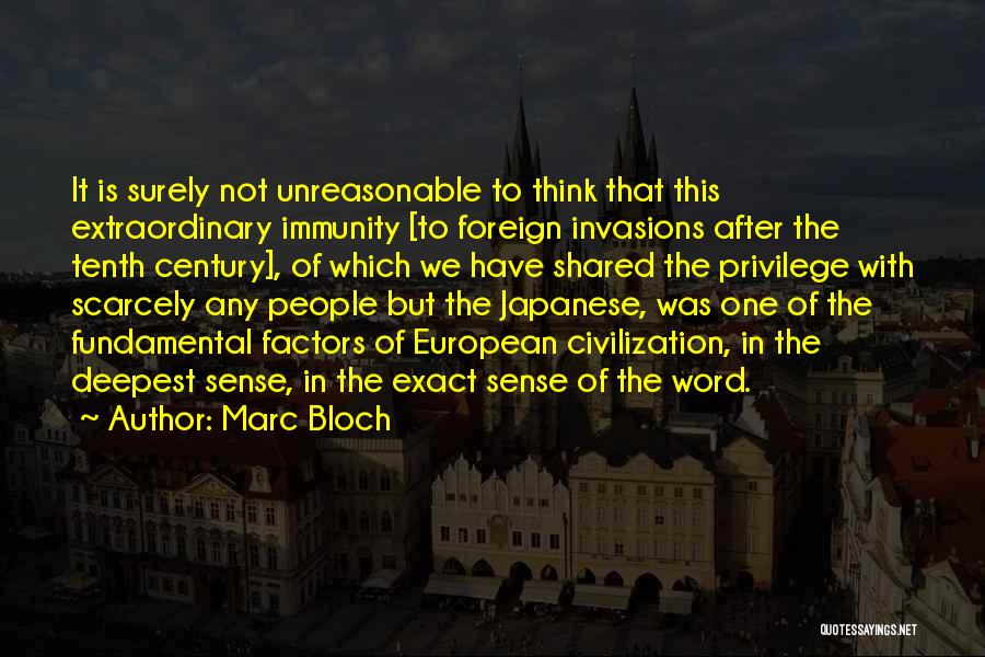 European Quotes By Marc Bloch