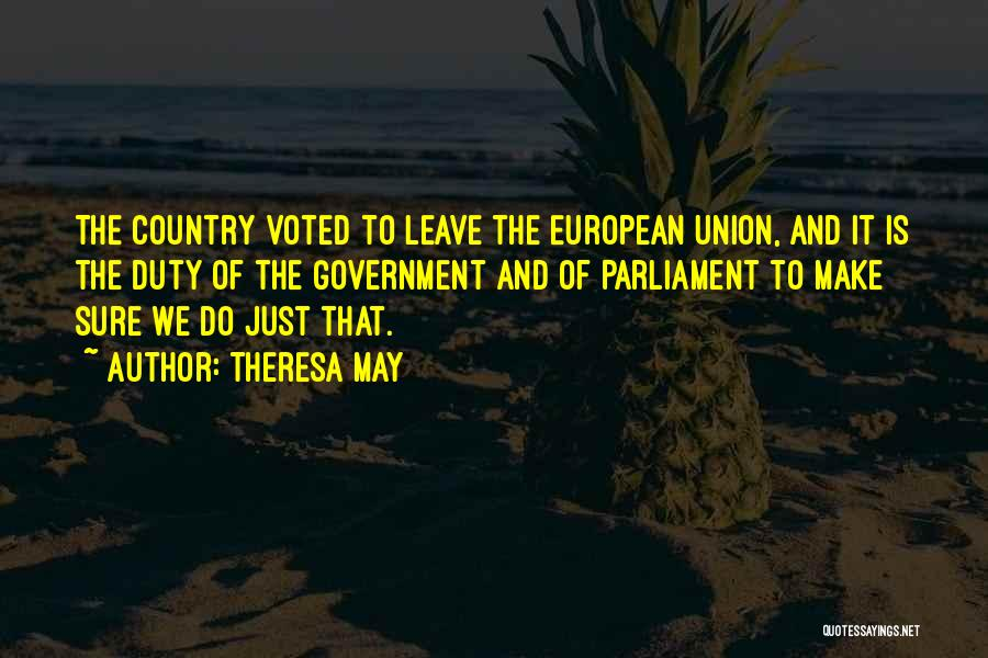 European Quotes By Theresa May
