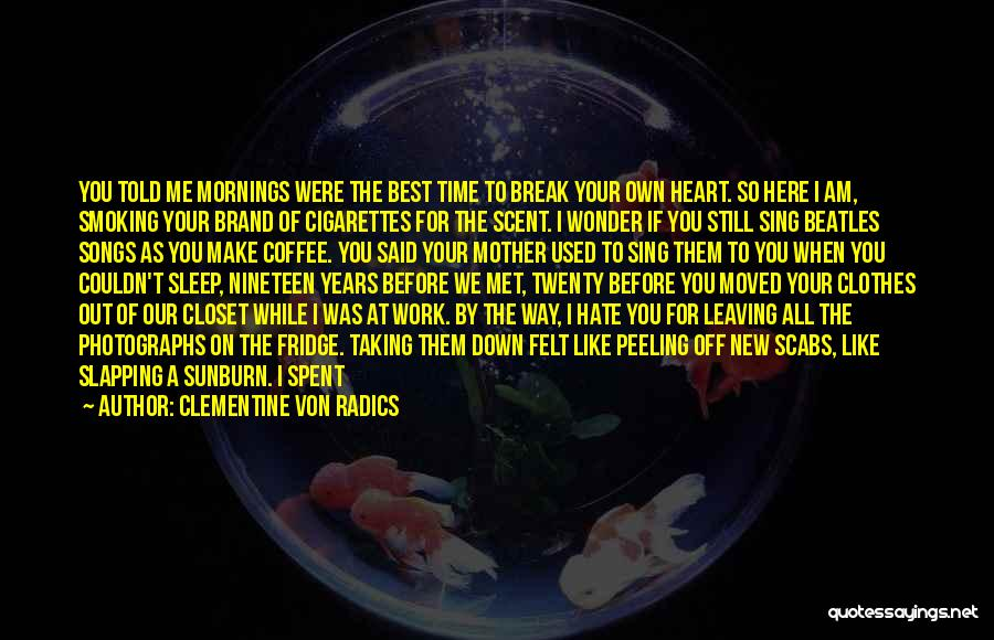 Even If You Hate Me Quotes By Clementine Von Radics