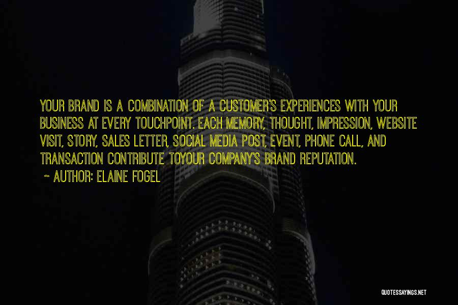 Event Marketing Quotes By Elaine Fogel